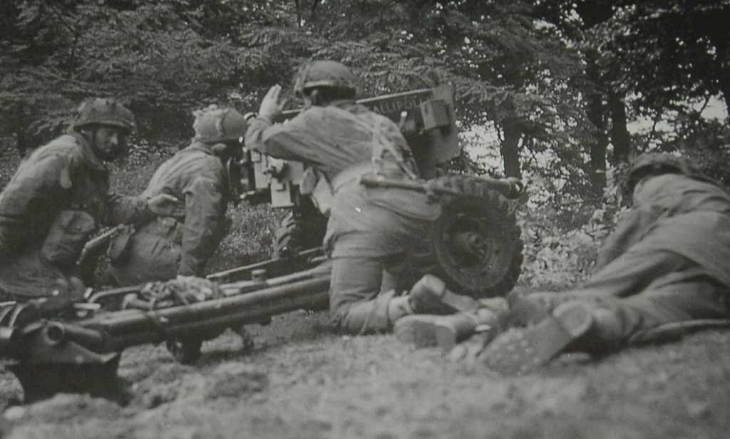 Army At War Arnhem Field Gun In Action