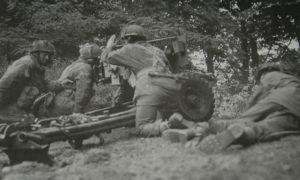 Army At War Arnhem Field Gun In Action