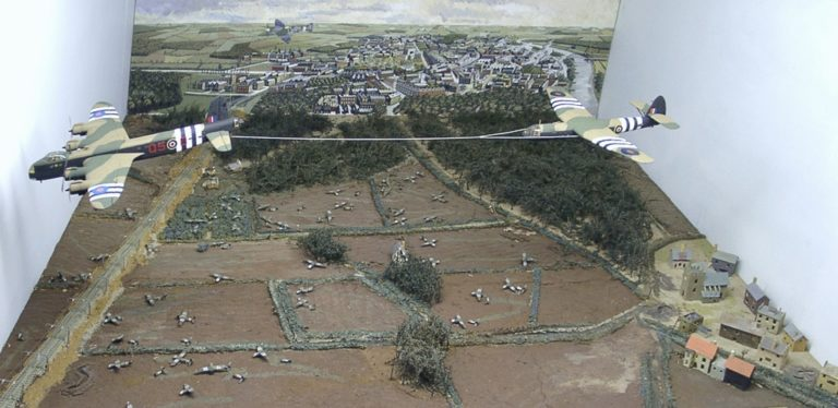 Army At War Arnhem Model Of Gliders In Carlisle Castle Display