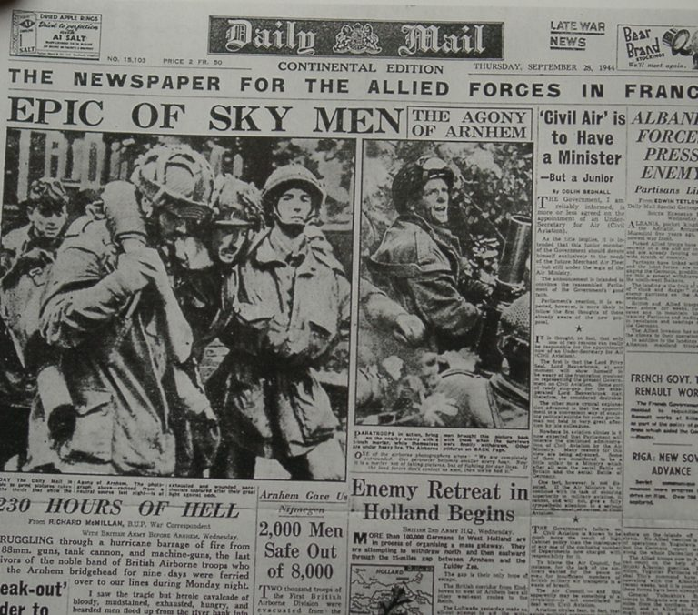 Army At War Arnhem Newspaper Epic Of Sky Men