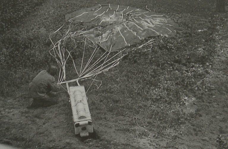 Army At War Arnhem Paratroop Air Drop Of Weapon