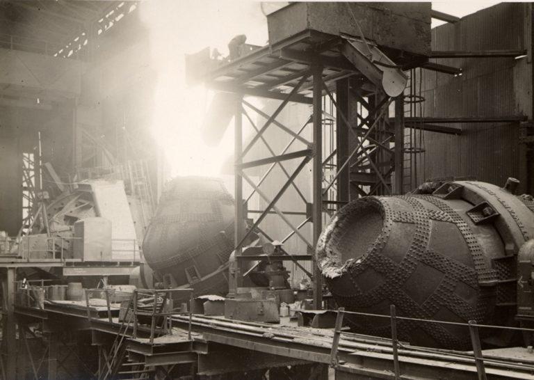 Bessemer Steel Converter Flaming