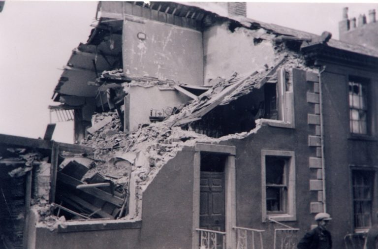 Bomb Damage Workington 1940 War 1