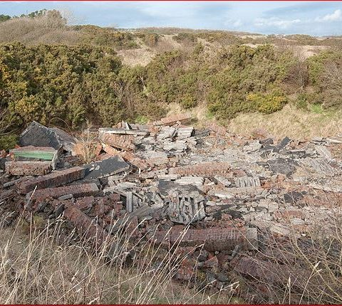 Broughton Moor WW2 Munitions Building After The 1944 Explosion