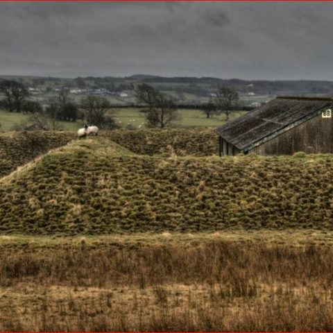 Broughton Moor WW2 Munitions Building Earth Barrier Sheep On Top
