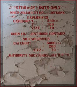 Broughton Moor WW2 Munitions Building Explosion Label
