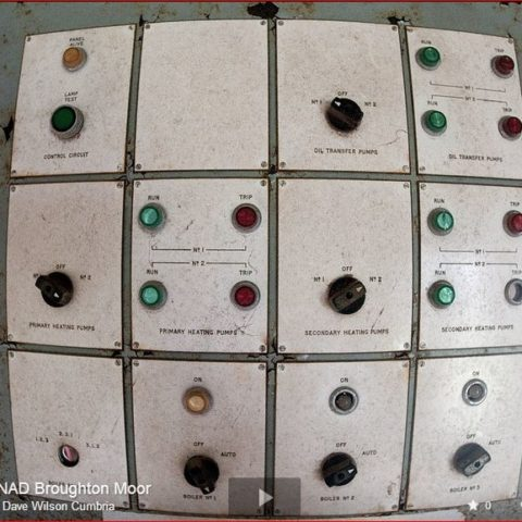 Broughton Moor WW2 Munitions Control Panel