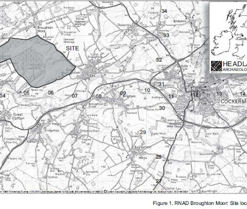 Broughton Moor WW2 Munitions Dump Location Map