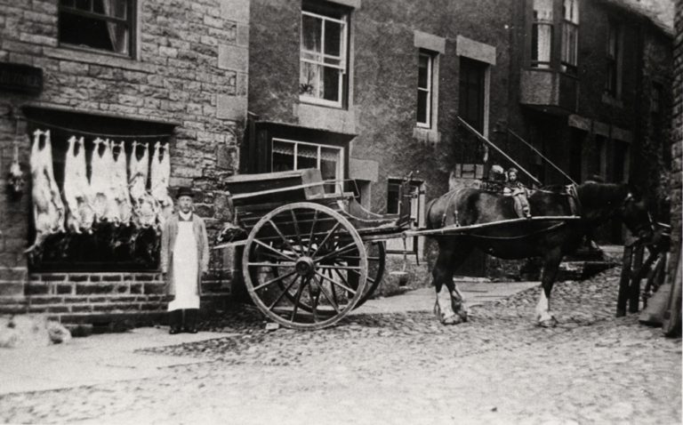 Butchers Shop Alston C 1899 NO DATA