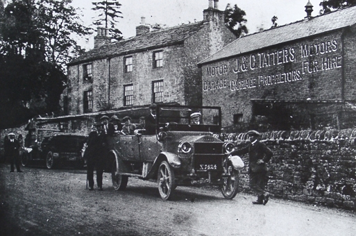 Car Charabanc Outside Tatters Garage