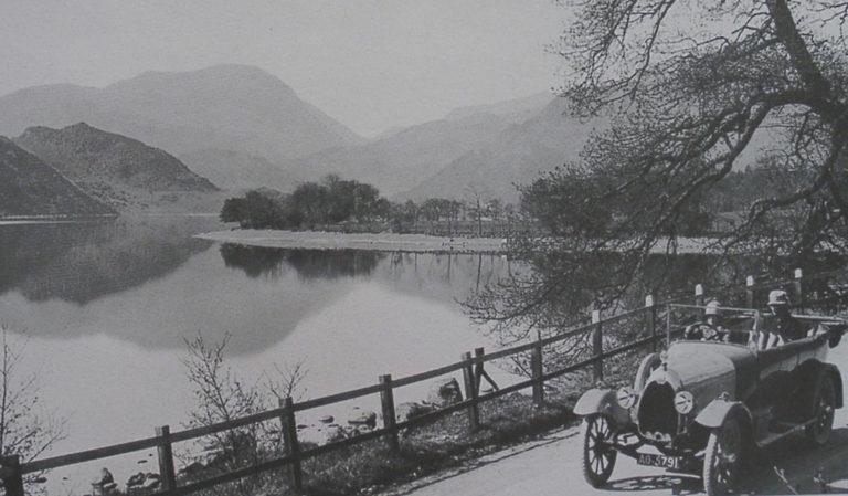 Car By Lake 1920