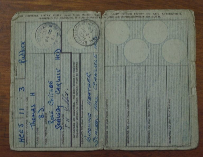 Car Registration Book 1951