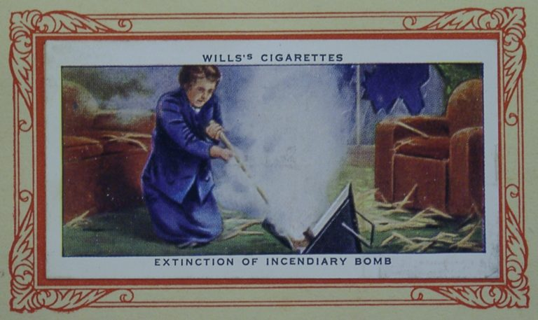 Cigarette Card In War Incend Bomb 2