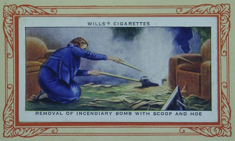 Cigarette Card In War Incend Bomb