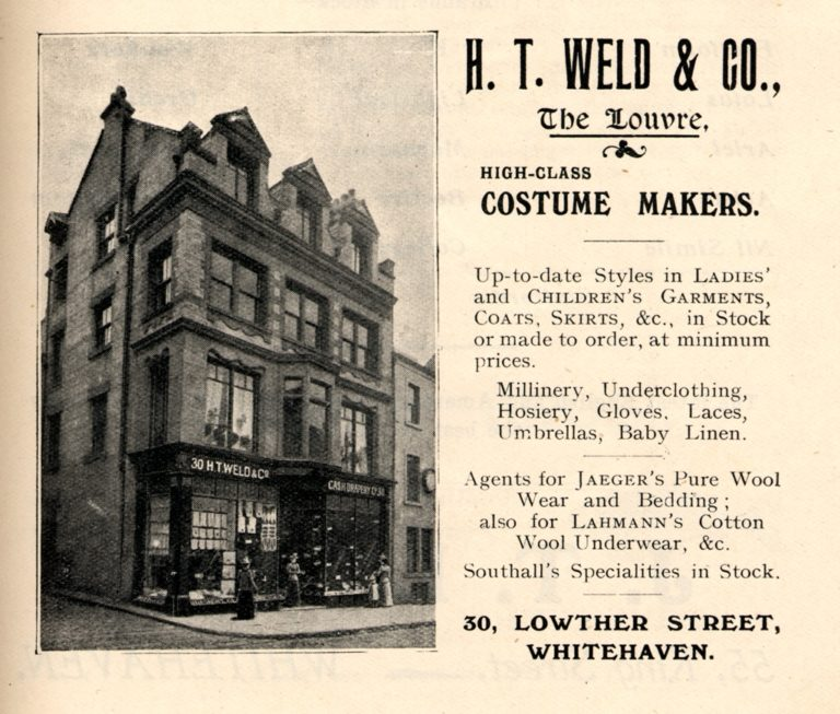 Clothes HT Weld Costume Makers Advert 1912