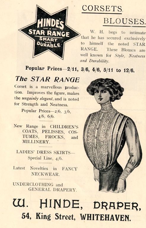 Clothes W Hinde Draper Advert 1912
