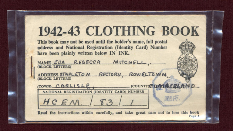 Clothing Book Front 1942 1943