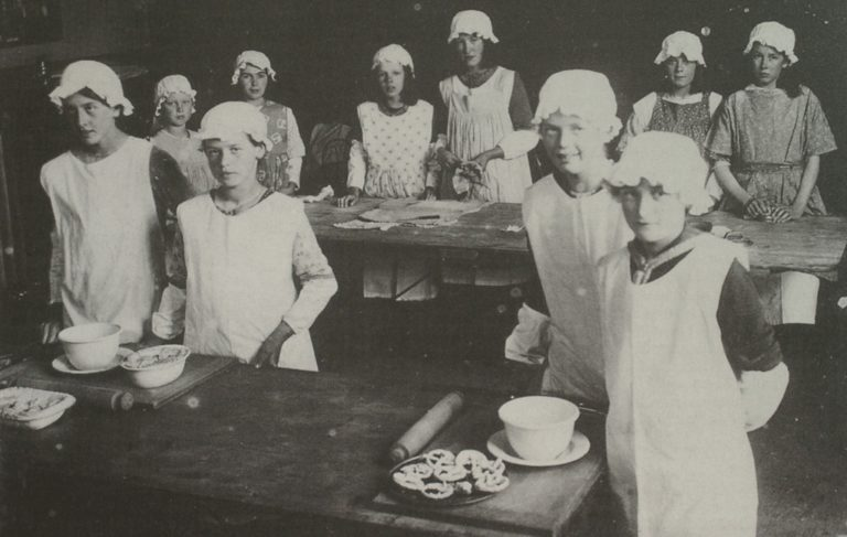 Cookery Class At School 1920s