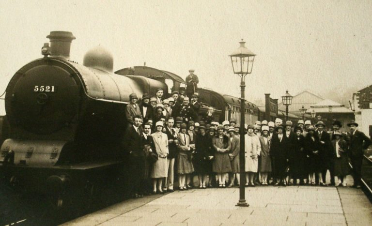 Crowd At Steam Train