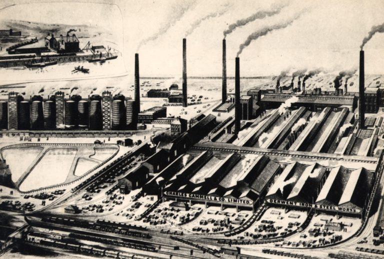 Derwent Iron And Steel Works Birds Eye View