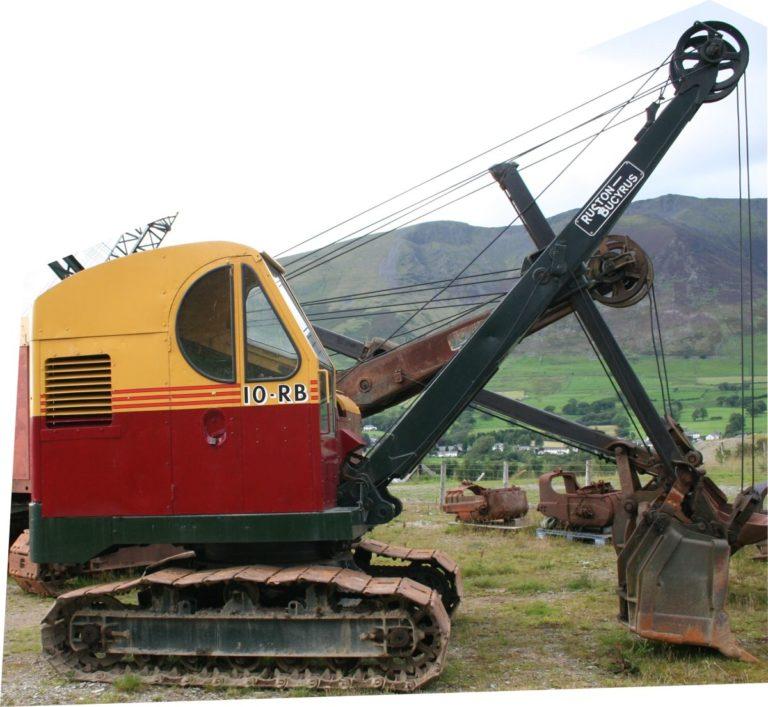 Excavator RB10 cutout Threlkeld Quarry Threlkeld Quarry