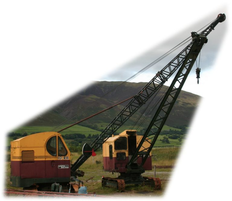 Excavator RB10 two jibs Threlkeld Quarry