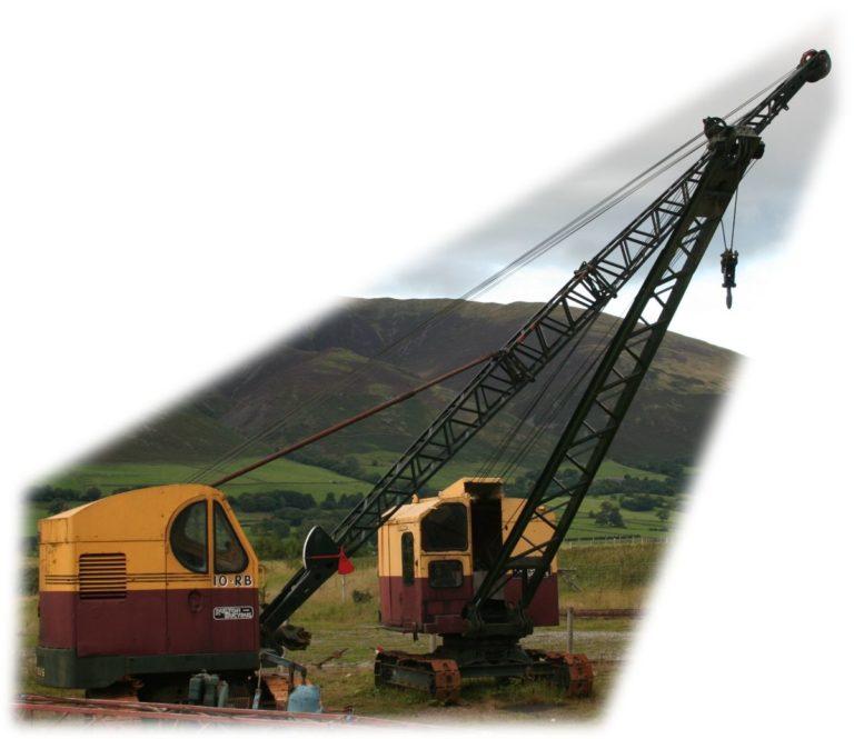 Excavator RB10 two jibs Threlkeld Quarry Threlkeld Quarry