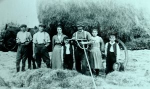 Farming Hay Raking Family