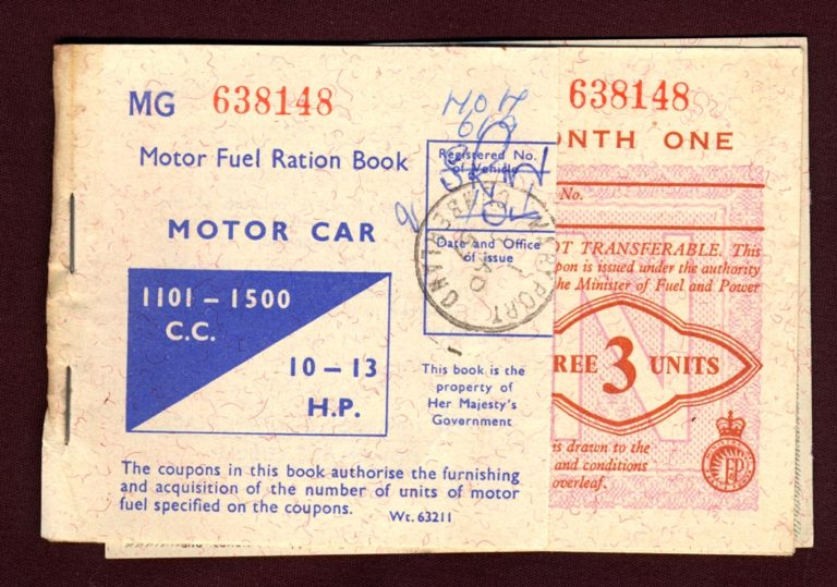 Fuel Ration Book Front