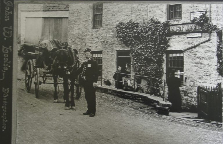 Horse And Cart Outside Post Office