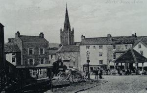 Houses Street Scene 1900 Alston Mkt Plce