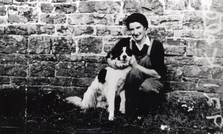 Hullock Annie Land Army Girl With Dog 1943