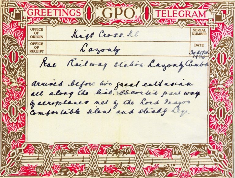 Jubilee Train Greeting Card 1935
