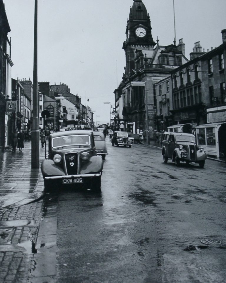 Kendal Stramongate With Cars 1940s 1950s
