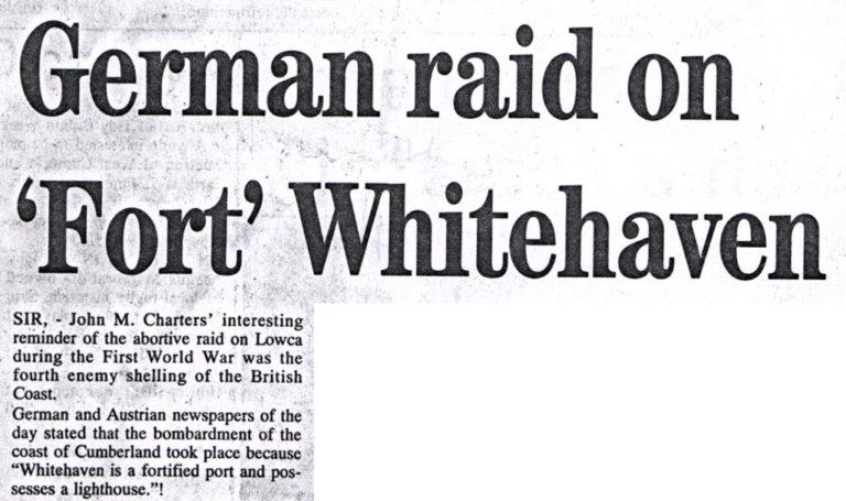Lowca German Raid On Fort Whitehaven War 1915