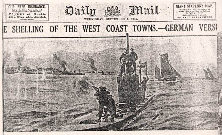 Lowca Shelling Of West Coast Towns Daily Mail War 1915