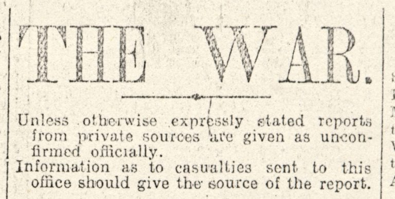 Lowca The War Headline War 1915
