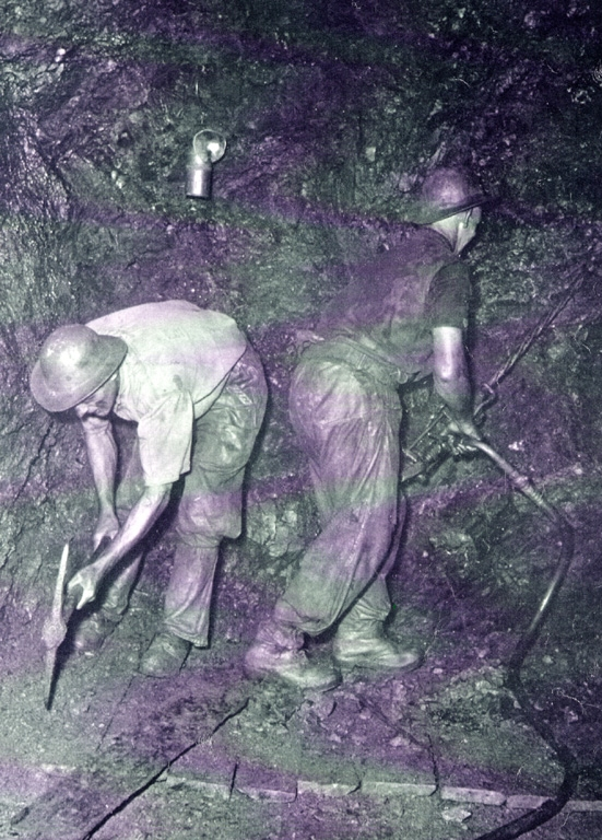 Miners Picking At Mine