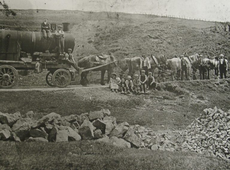 Mining Horses Pulling Steam Engine