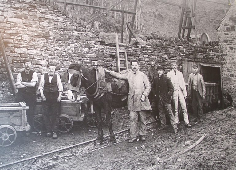 Mining Men Horse And Hoppers At Pit Entrance
