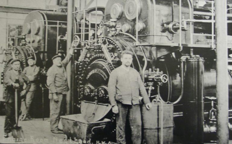 Mining Men In Engine Room