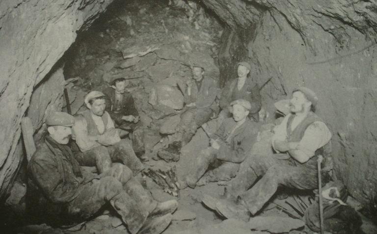 Mining Miners Resting 1904