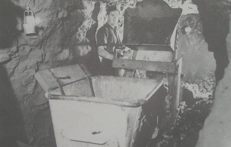 Mining Throwing Over Bucket