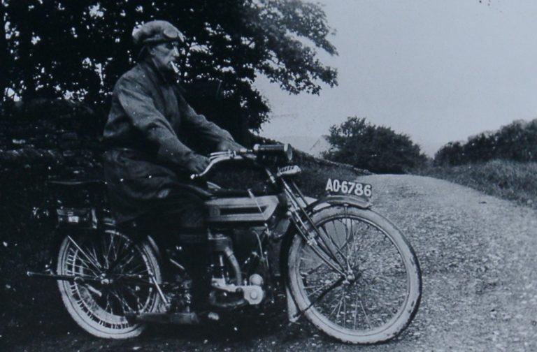 Motorbike 1912 Man Riding
