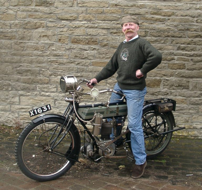 Motorbike 1912 With Man From Museum1