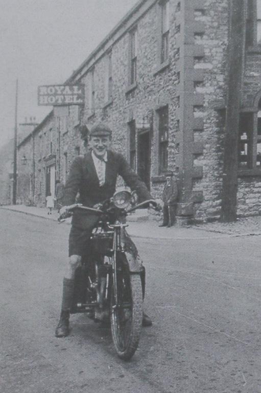 Motorbike And Man 1920s