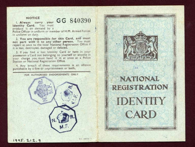 National Registration Identity Card Cover 1940s