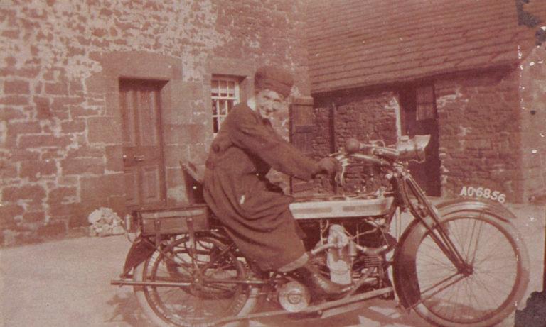 Nurse On Motorbike 1930s