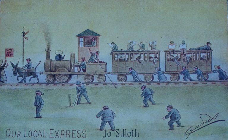 Postcard Carlisle To Silloth Express Cartoon 2