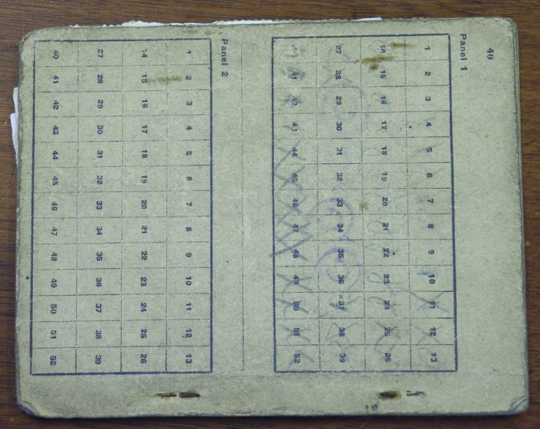 Ration Book During The War 1942 Carlisle Inside 2